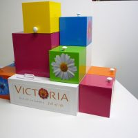 Travelling promotional display for Tourism Victoria