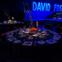 Insite designs created for DEYA, a University of Victoria event honoring music producer David Foster.
