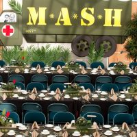 Mash TV mess hall takes shape in the Crystal Gardens