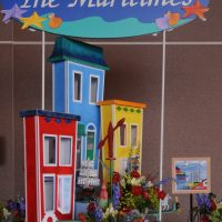 Colourful Maritime houses and folk art