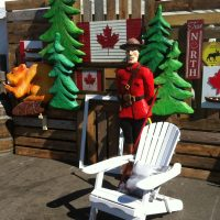 Fun Canadiana Photo backdrop