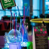 Mad Scientist Theme At Science World Vancouver the condensation added a welcome design element to the centerpiece