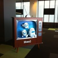 Retro TV's made for Shaw Ottawa offices