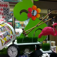 Alice In Wonderland displays designed for one of many creative promotions by Bolen Books