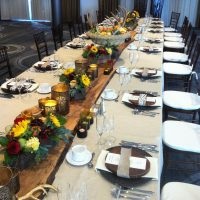 Autumn inspired long table Delta Hotel