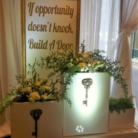 A pretty entrance with a message, for a Grad celebration