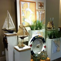 Nautical display with artifacts