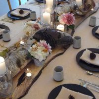 A harvest tablescape for an intimate dinner