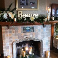 Working in pictures and accessories around a beautiful fireplace
